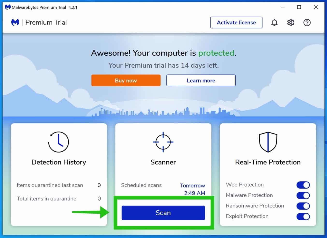 instalación de malwarebytes 4