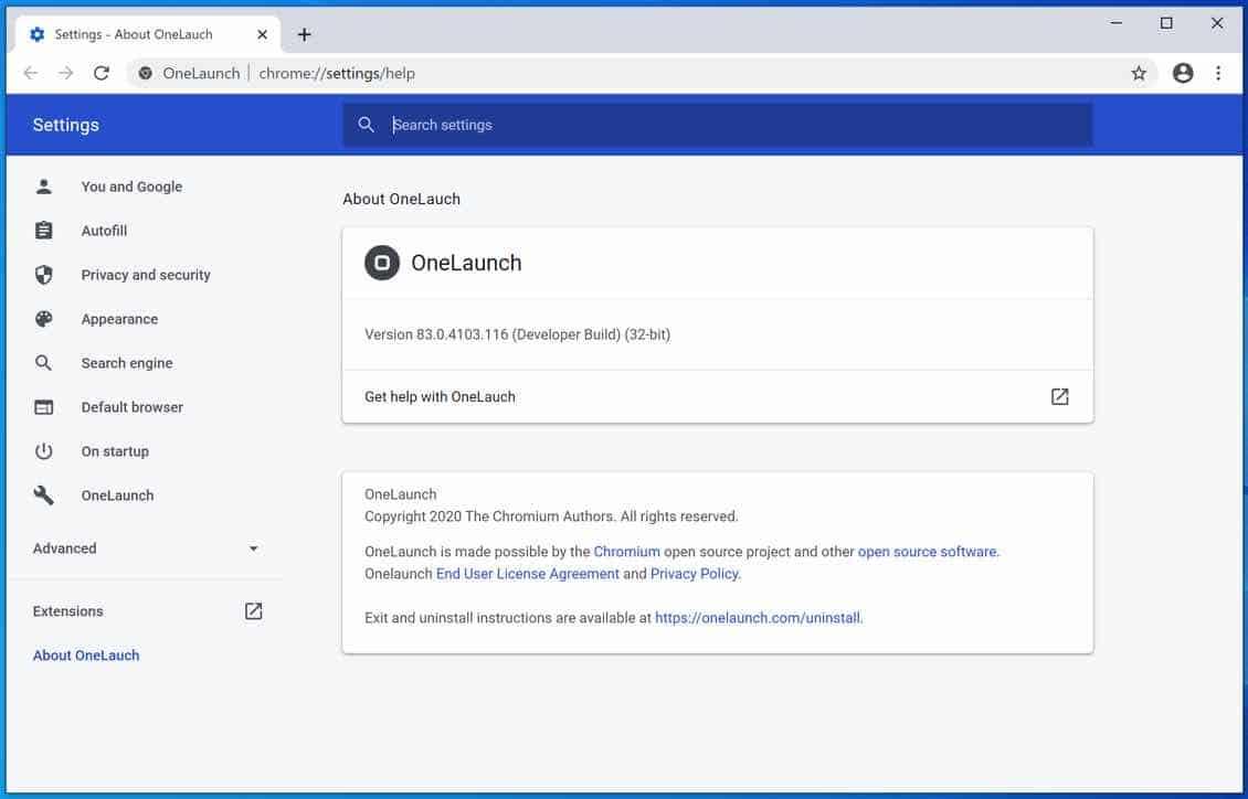 OneLaunch-Webbrowser