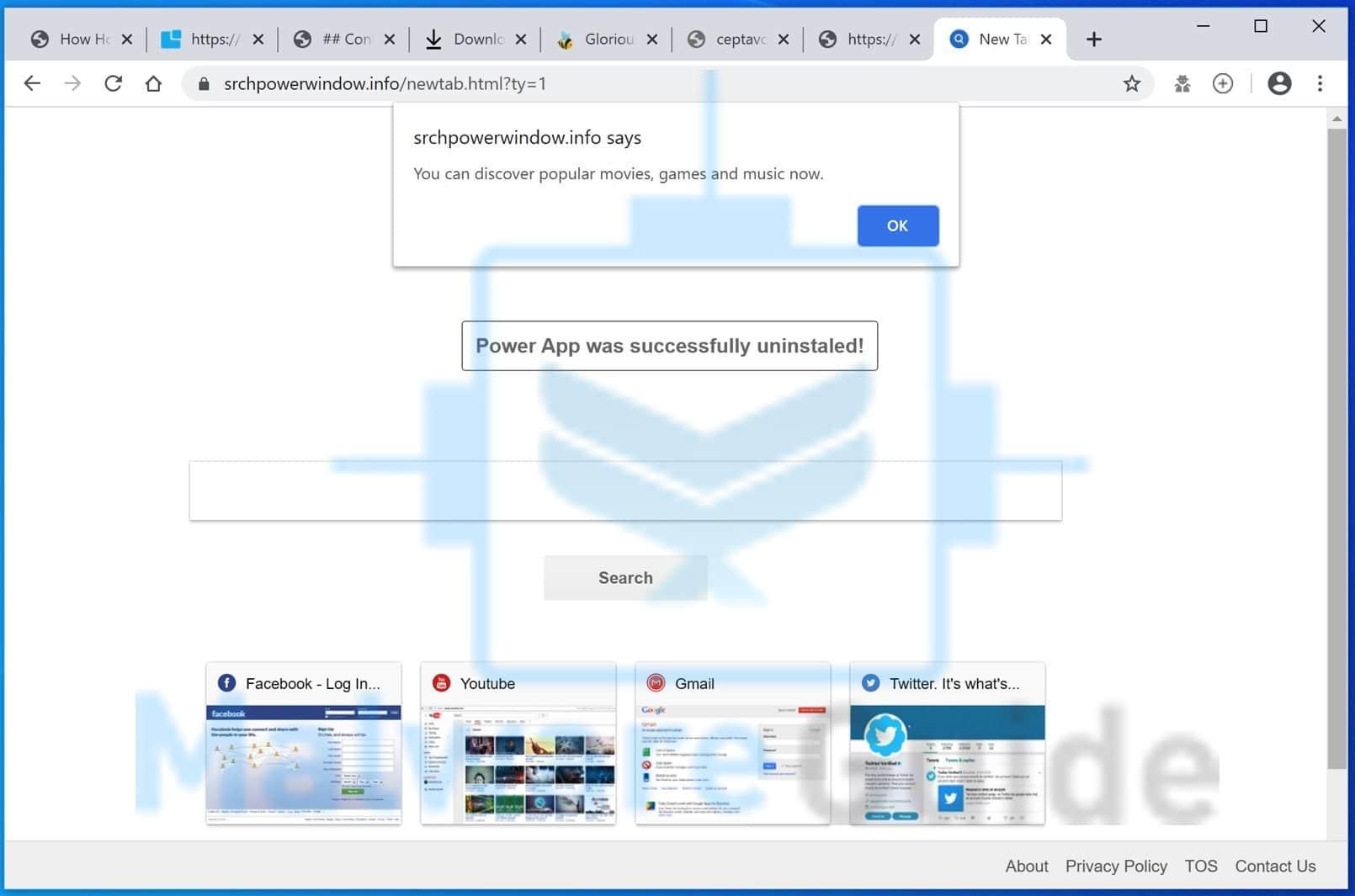 Srchpowerwindow.info malware
