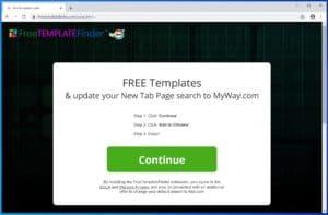 FreeTemplateFinder Adware