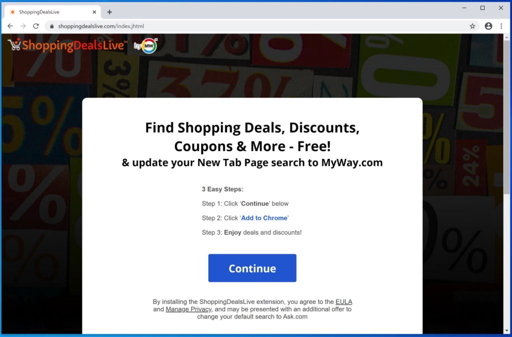 ShoppingDealsLive adware