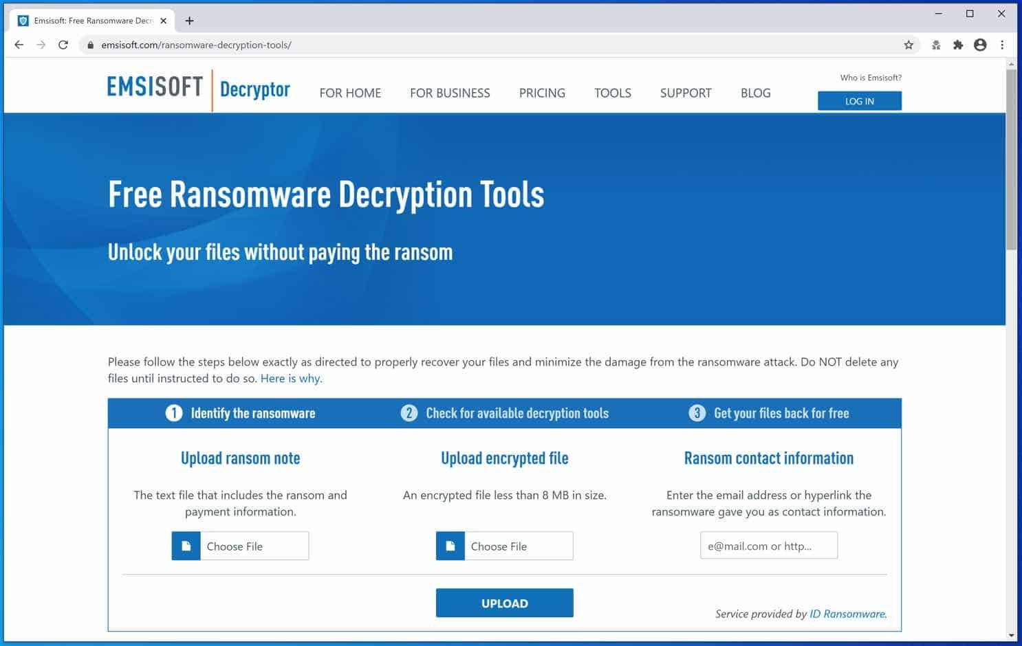 emsisoft ransomware decryption tools