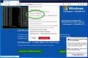 0Popup-Fenster mit dem x8024402c-Fehlercode