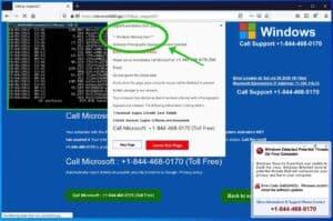 Popup-Fenster mit Windows-Warnmeldung