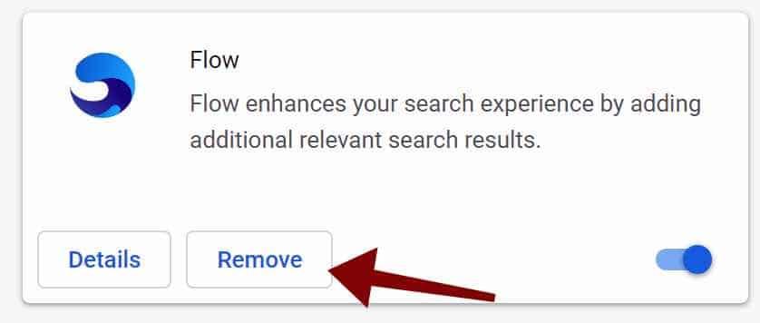 Flow Adware-Erweiterung Google Chrome