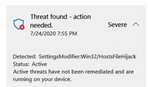 InstellingenModifier Win32 HostsFileHijack