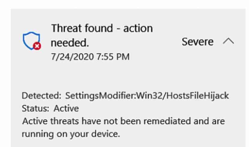 ParamètresModifier Win32 HostsFileHijack