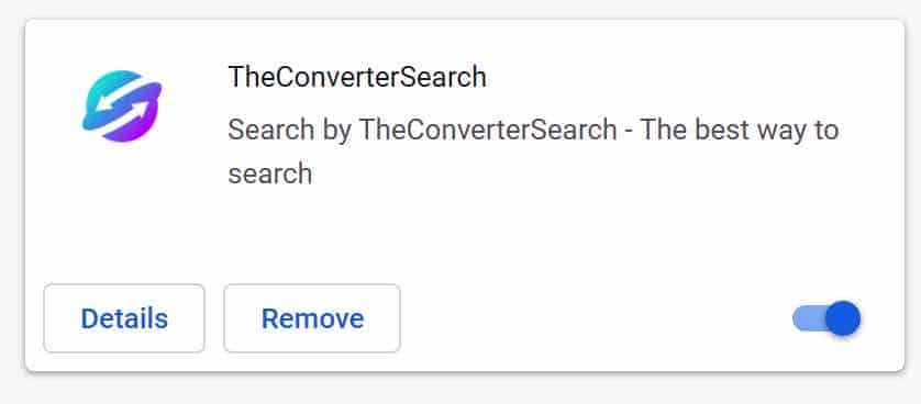 TheConverterSearch extensie google chrome