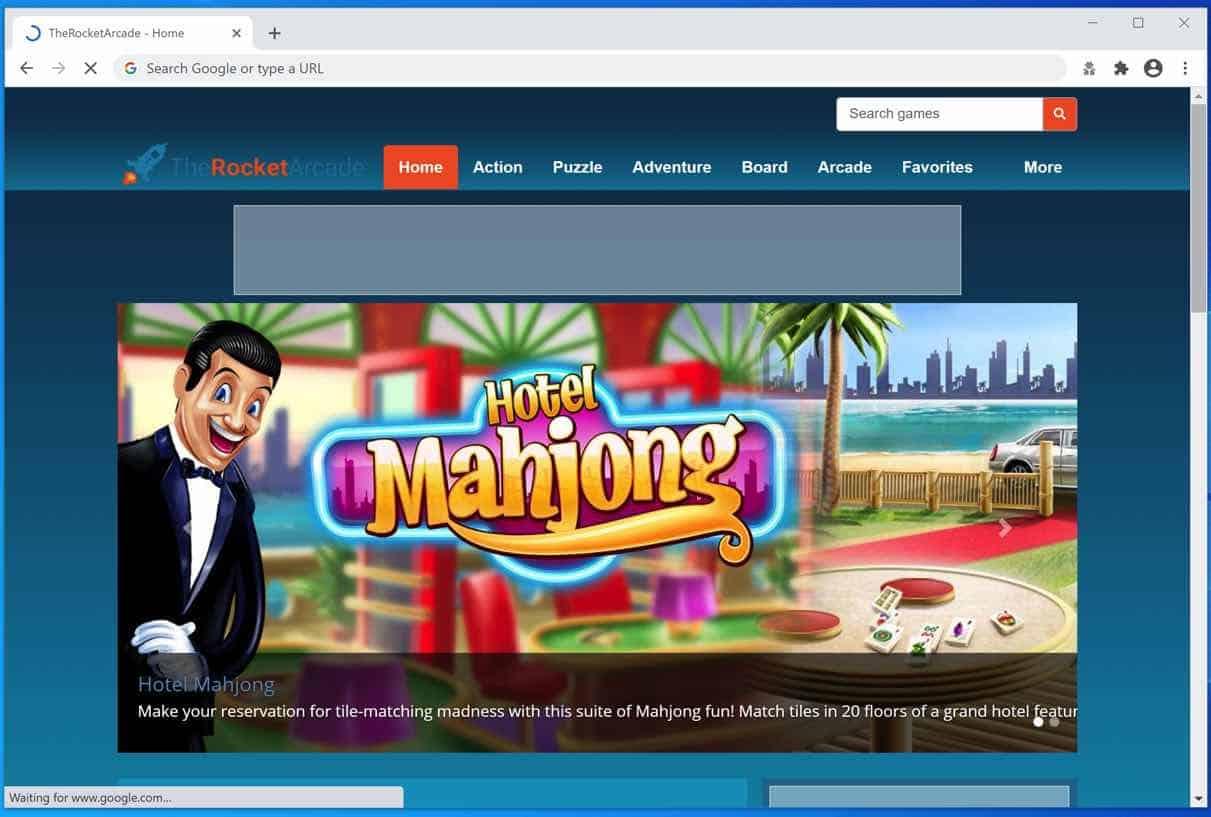 Software publicitario TheRocketArcade