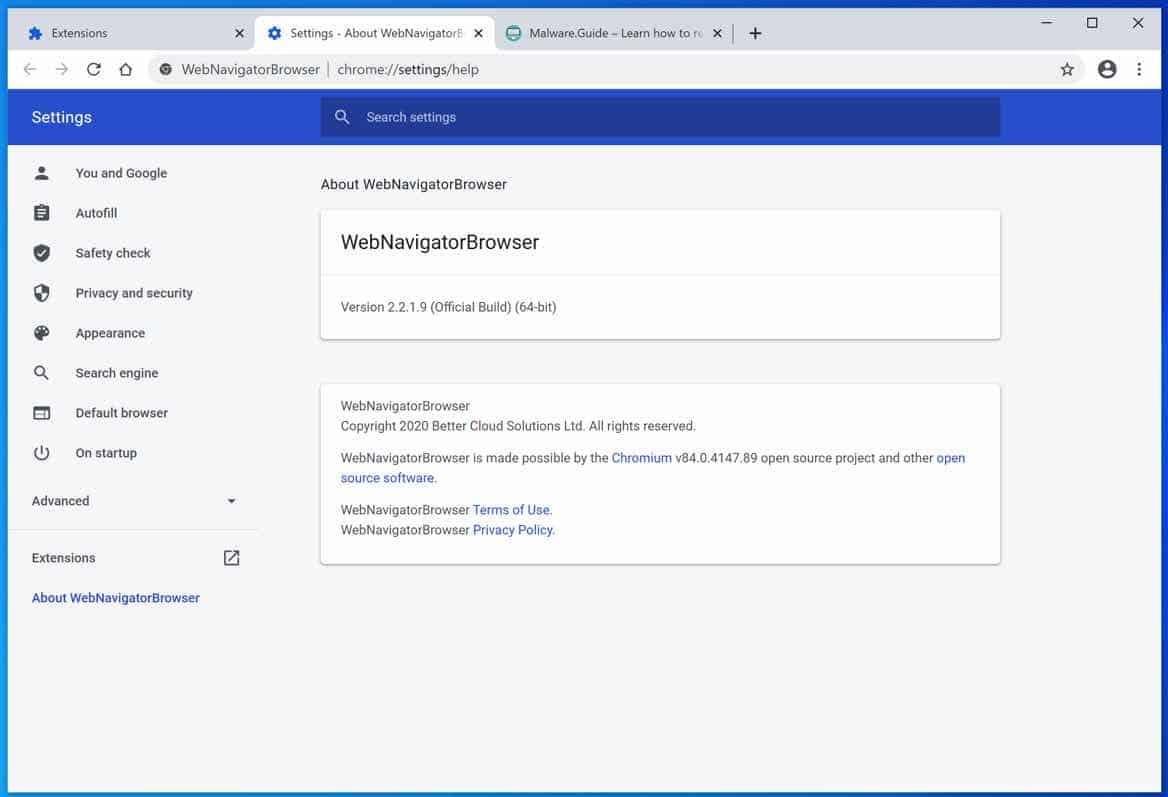 WebNavigatorBrowser