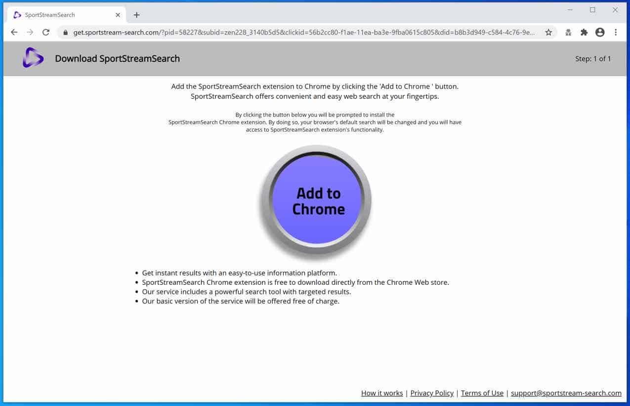 get.SportStream-Search.com pop-up