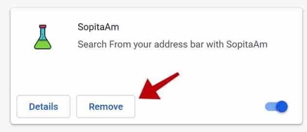 verwijder sopitaam extensie google chrome