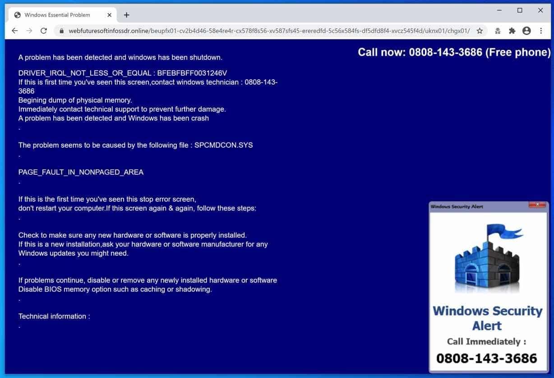 Alerte de sécurité Windows