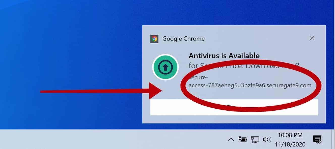 Notificação Securegate9.com