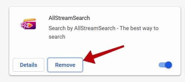 Entfernen Sie AllStreamSearch