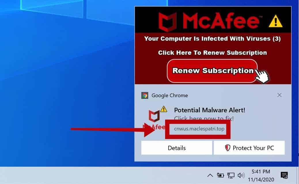 remove Maclespatri.top notification