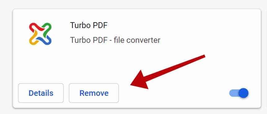 supprimer l'extension pdf turbo