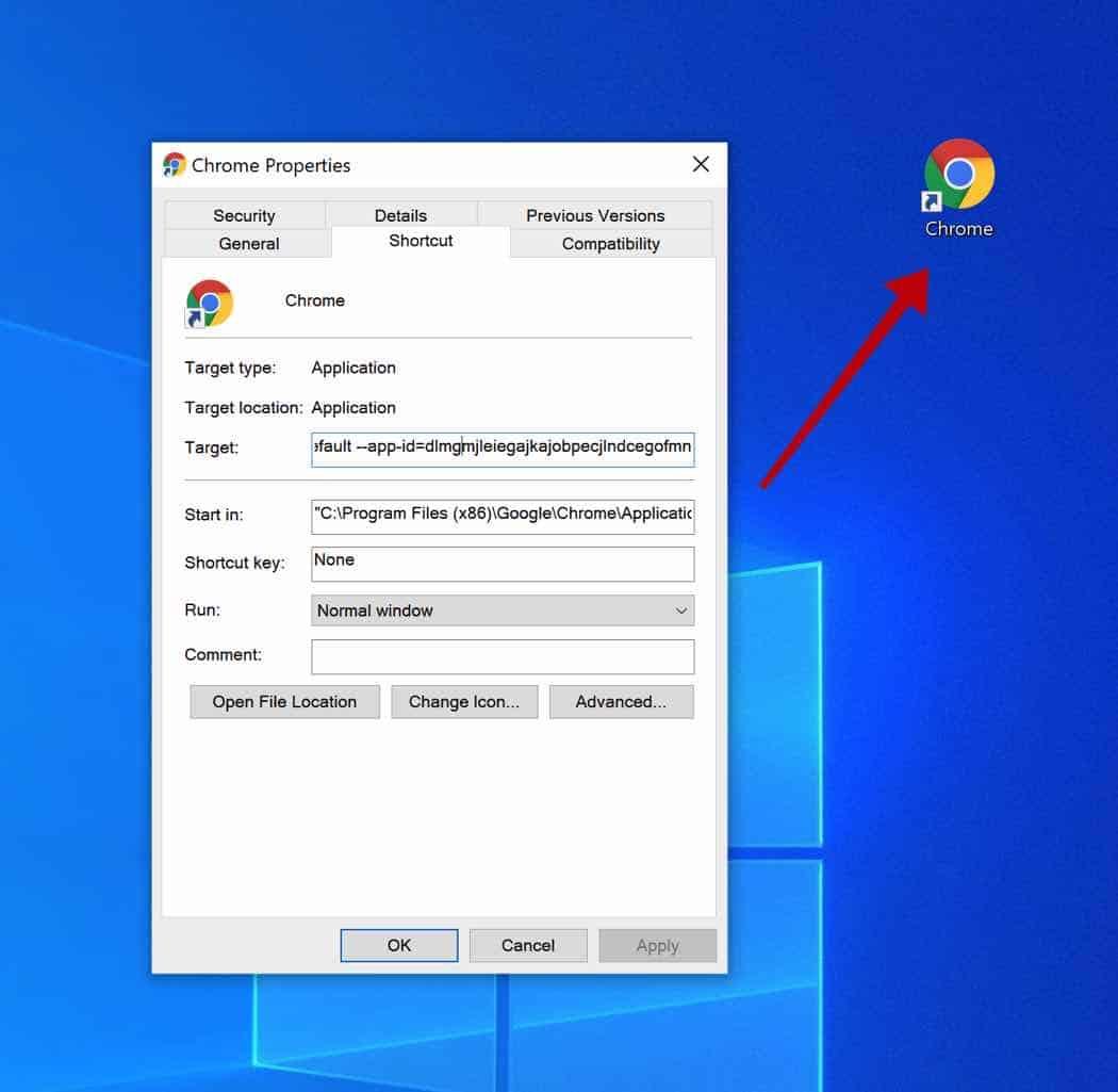 Tutupdate29.com acceso directo de Chrome