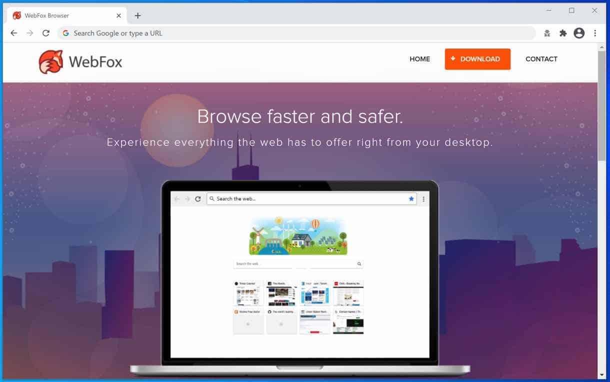 WebFox advertisement