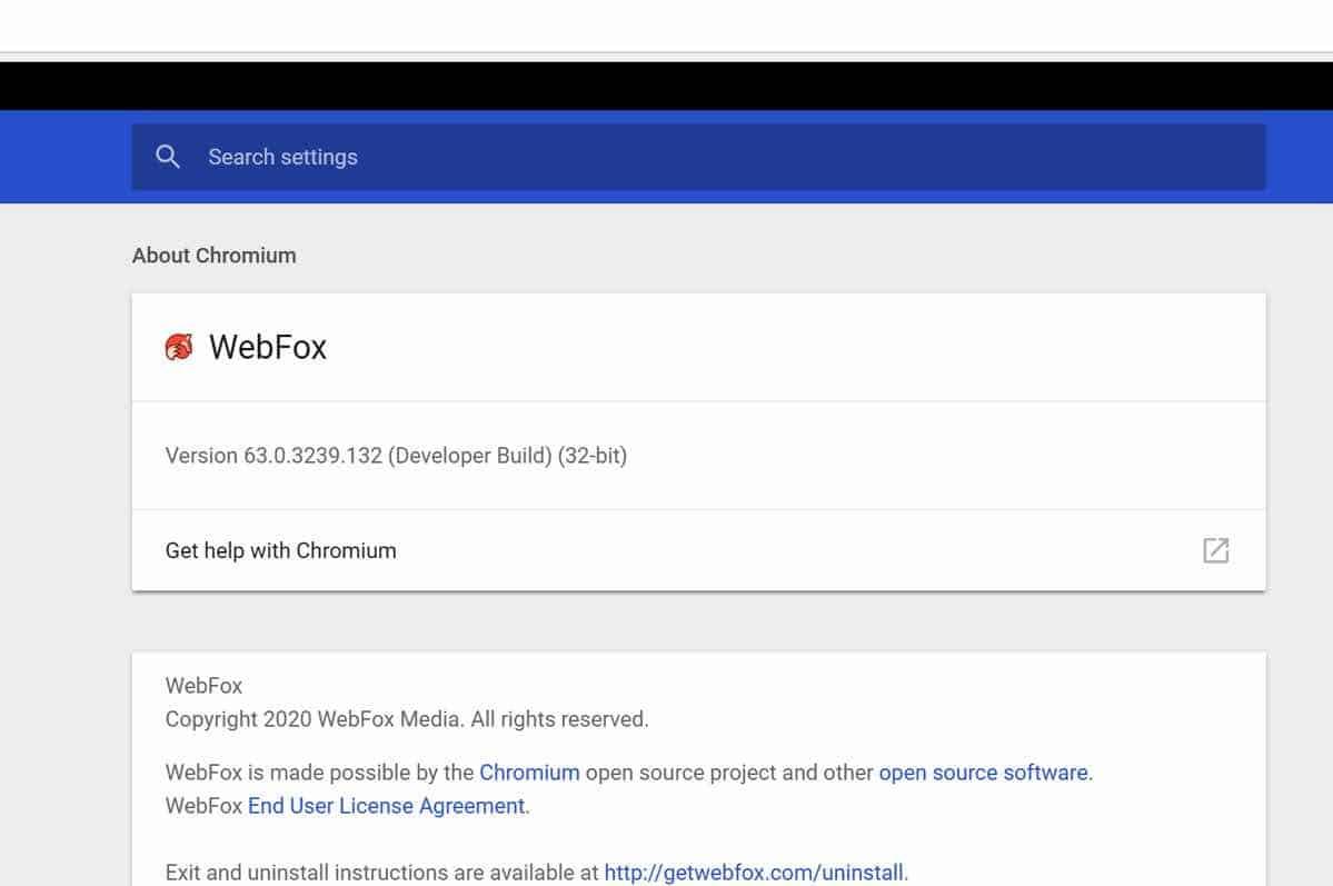 WebFox adware