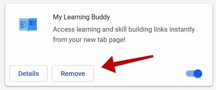 remove My Learning Buddy