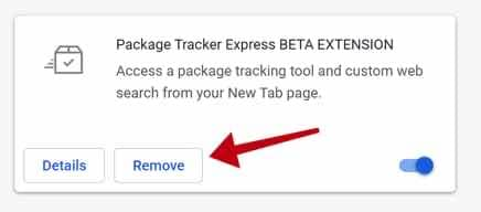 remover PackageTrackerExpress