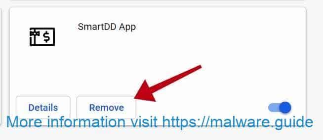 desinstalar o aplicativo SmartDD
