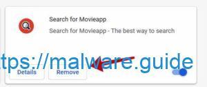 supprimer Rechercher l'extension movieapp