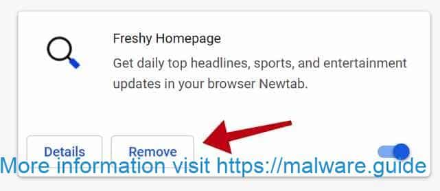 remove Freshy homepage